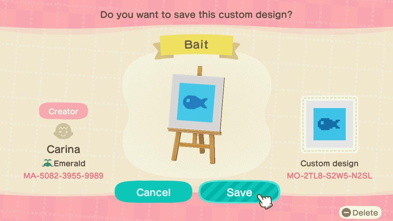 Fish Bait - Animal Crossing: New Horizons Custom Design
