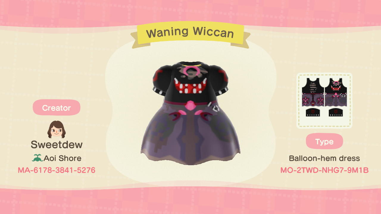 Waning Wiccan - Animal Crossing: New Horizons Custom Design