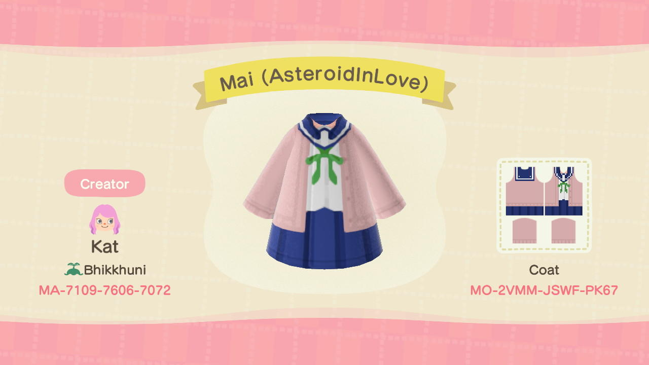 Mai (AsteroidInLove) - Animal Crossing: New Horizons Custom Design