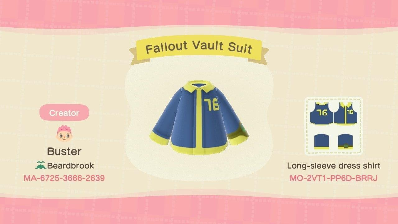 Fallout 76 Vaultsuit - Animal Crossing: New Horizons Custom Design