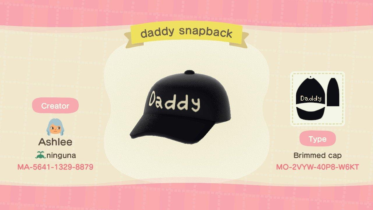 daddy snapback - Animal Crossing: New Horizons Custom Design