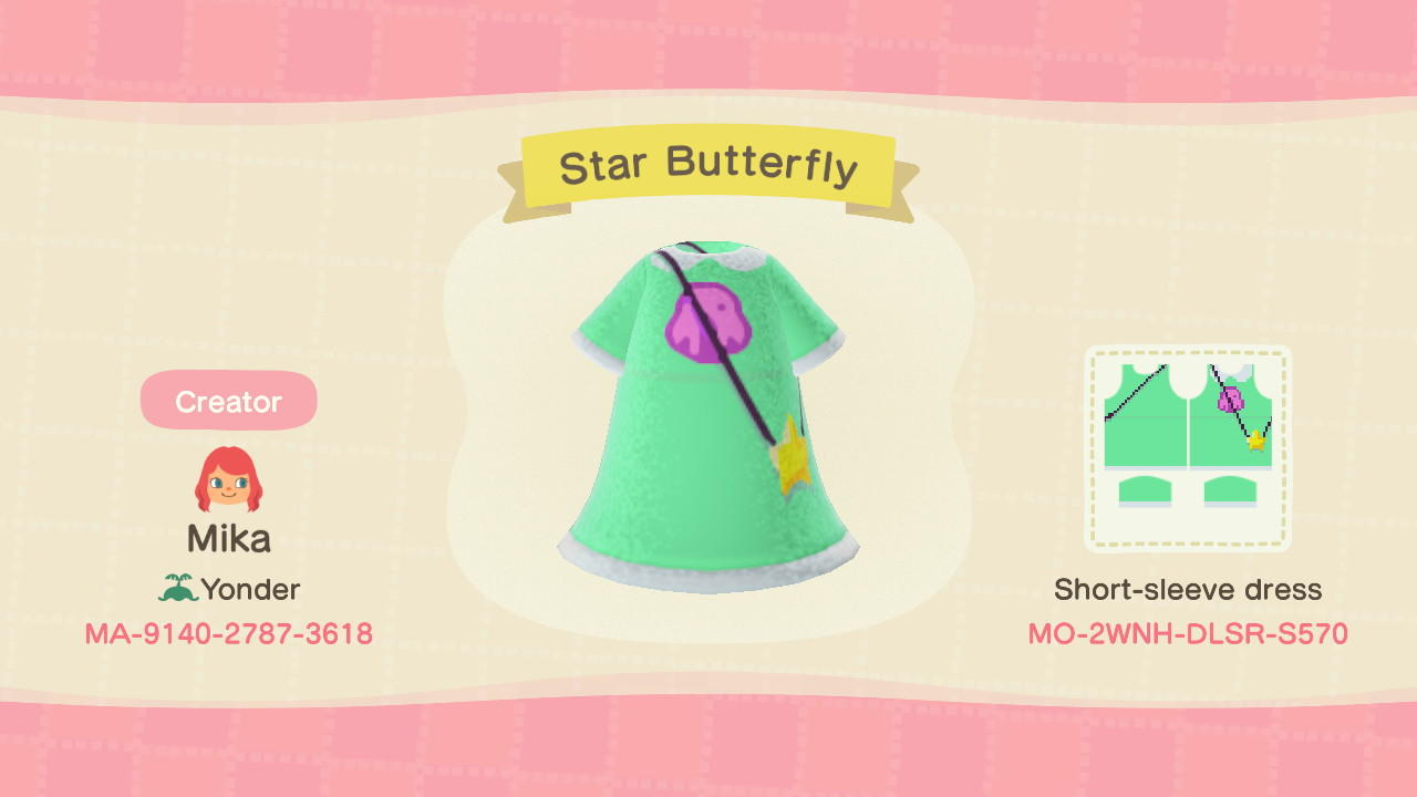 Star Butterfly - Animal Crossing: New Horizons Custom Design