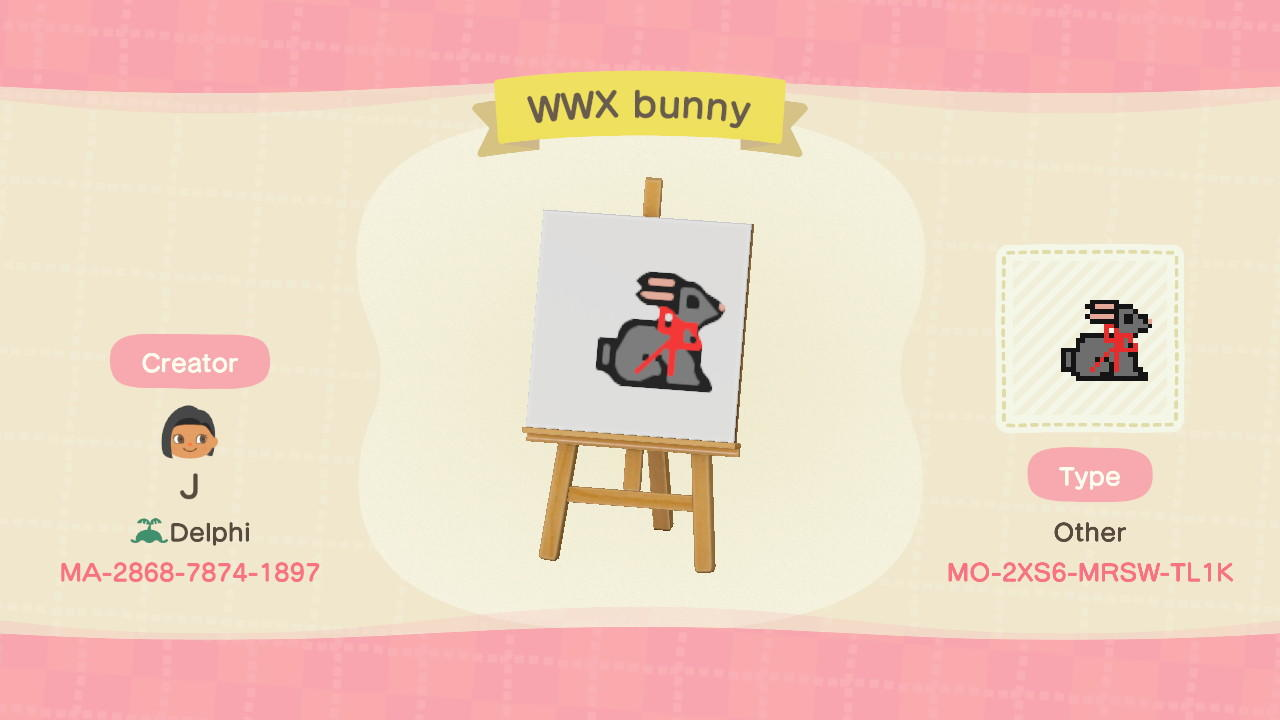 Wei Wuxian Bunny1 - Animal Crossing: New Horizons Custom Design
