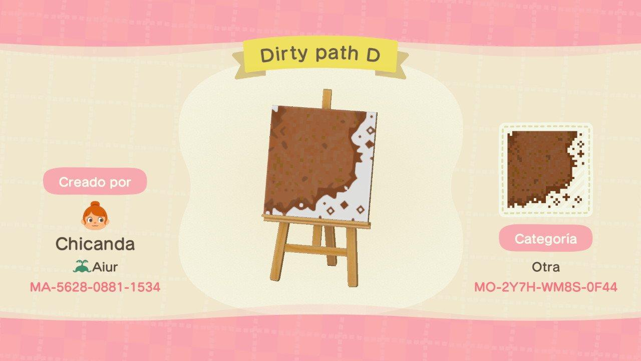 Dirty path D - Animal Crossing: New Horizons Custom Design