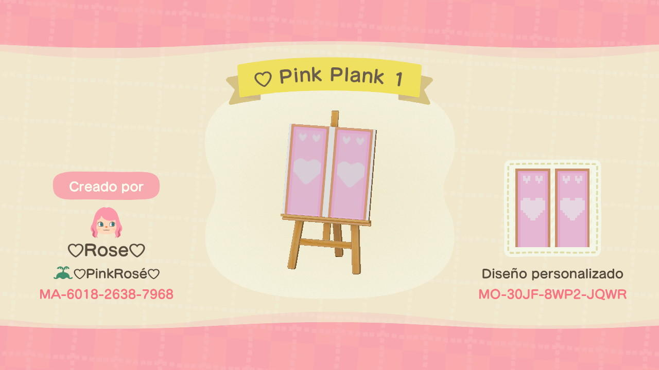 Cute Pink Plank 1  - Animal Crossing: New Horizons Custom Design