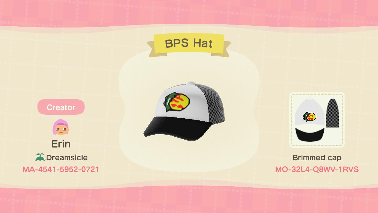 BPS Hat - Animal Crossing: New Horizons Custom Design
