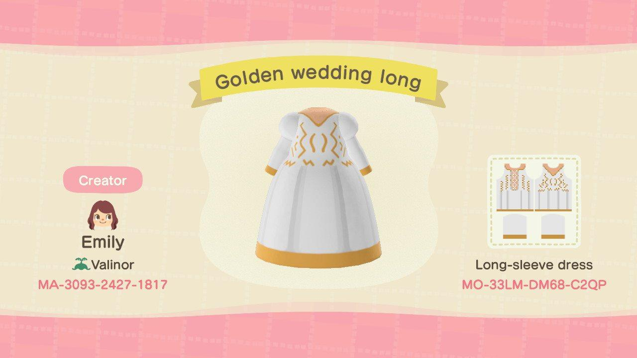 Golden wedding long - Animal Crossing: New Horizons Custom Design