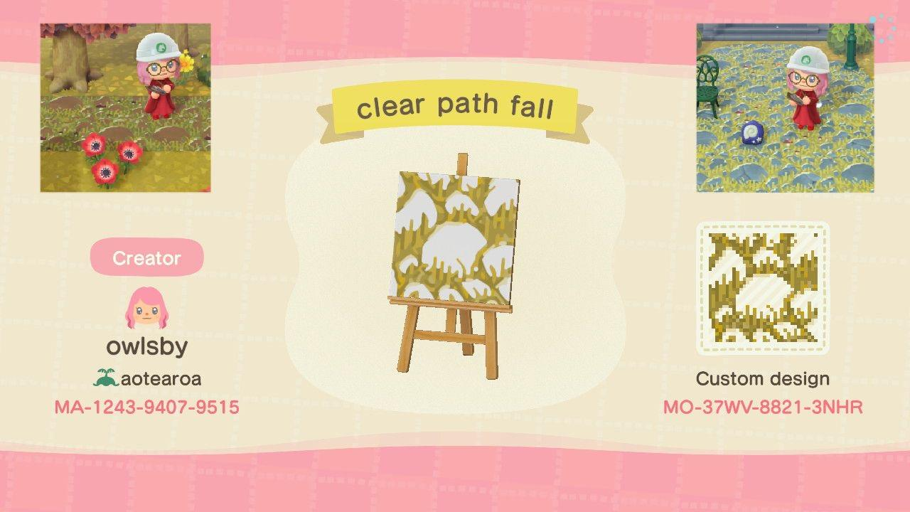 Clear Path Fall 1 - Animal Crossing: New Horizons Custom Design