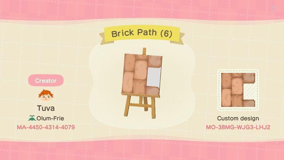 Brick Path (6) - Animal Crossing: New Horizons Custom Design