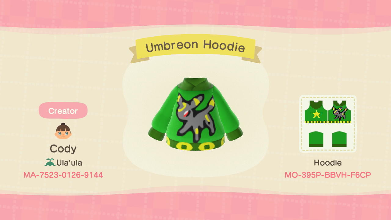 Umbreon Hoodie - Animal Crossing: New Horizons Custom Design