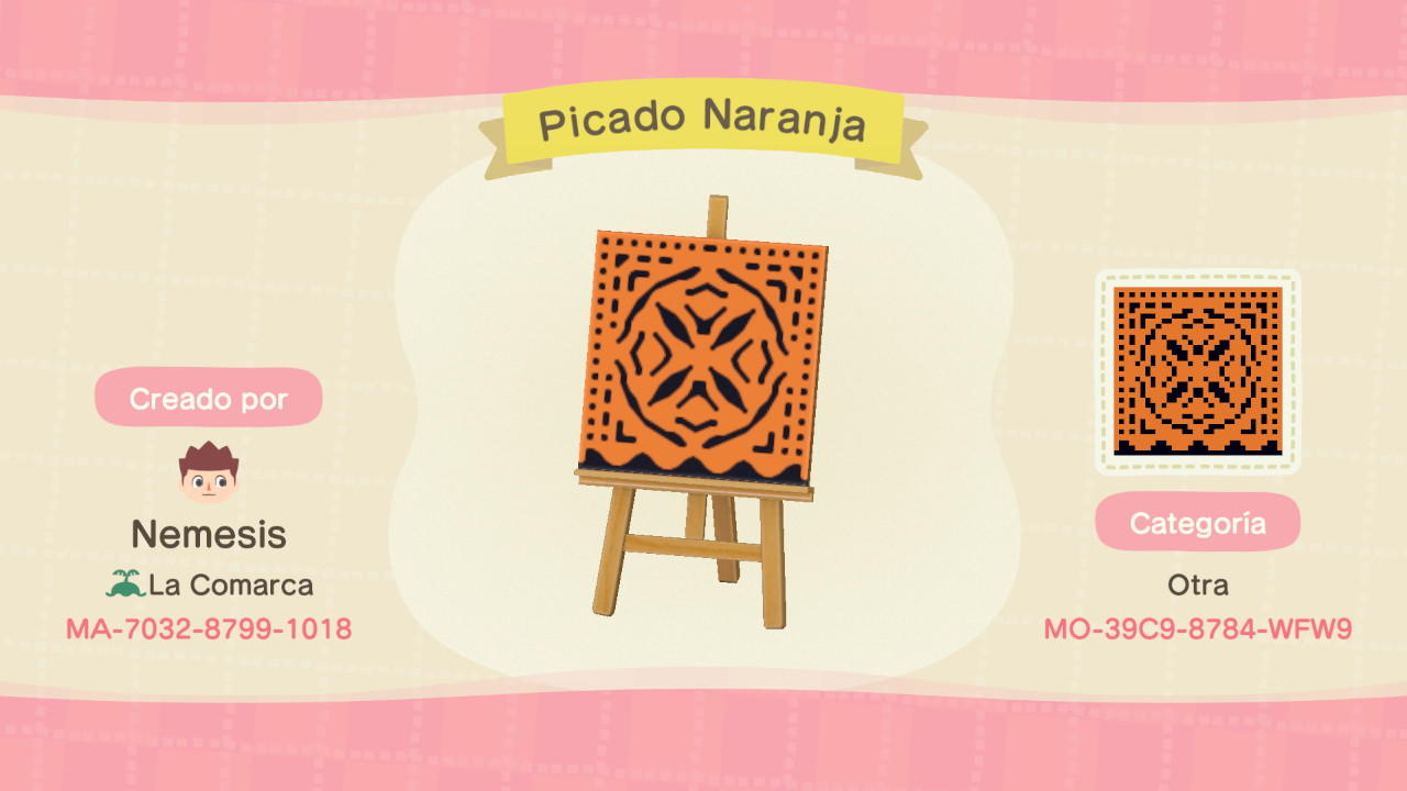 Picado Naranja - Animal Crossing: New Horizons Custom Design