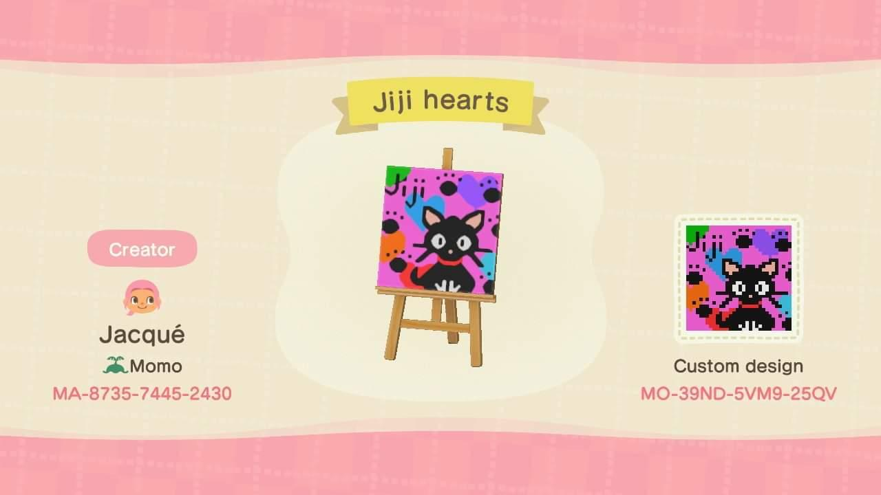 Jiji hearts - Animal Crossing: New Horizons Custom Design