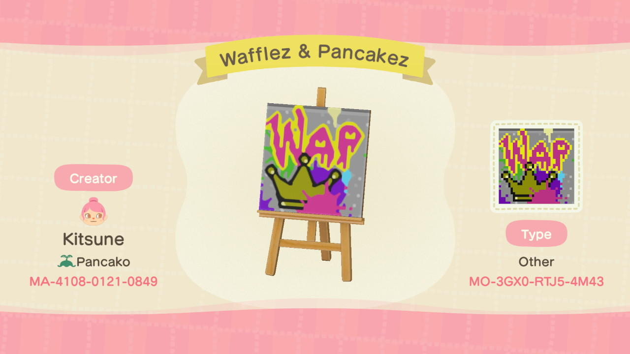 Waffles & Pancakez - Animal Crossing: New Horizons Custom Design