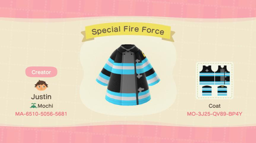 Special Fire Force - Animal Crossing: New Horizons Custom Design