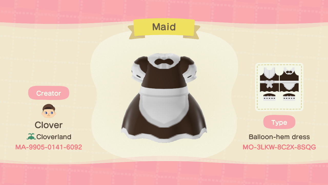 Maid Outfit - Animal Crossing: New Horizons Custom Design