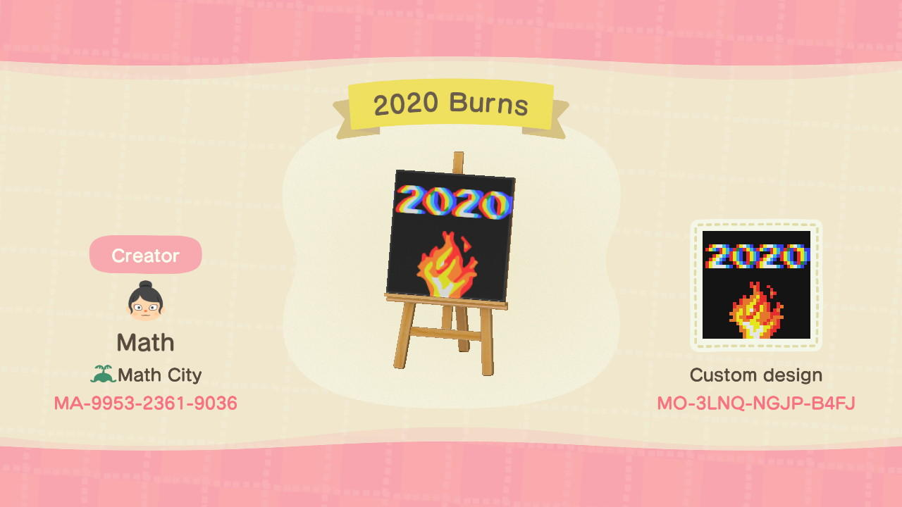 2020 Burns Fire Desi - Animal Crossing: New Horizons Custom Design