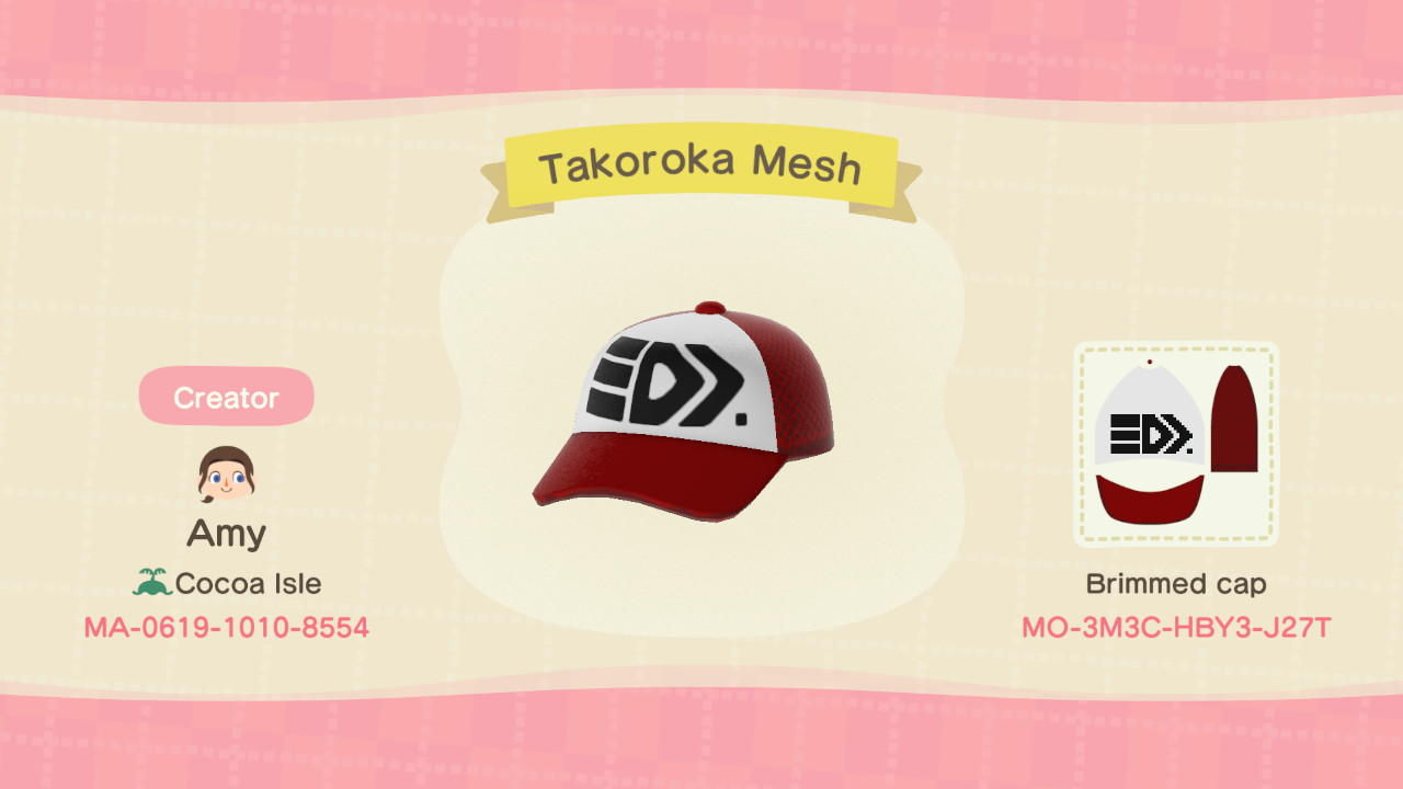 Takoroka Mesh - Animal Crossing: New Horizons Custom Design
