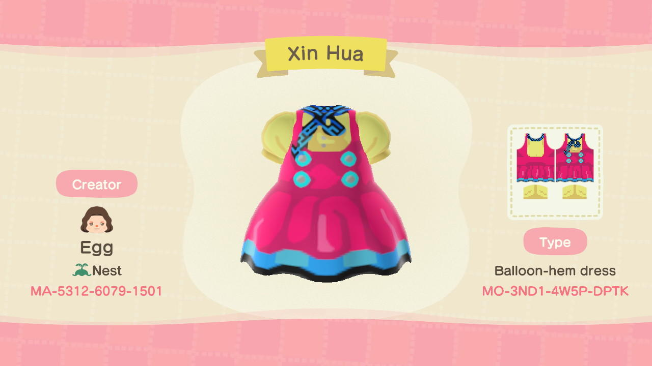 Xin Hua Vocaloid - Animal Crossing: New Horizons Custom Design