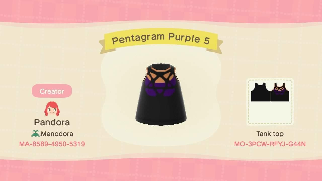 Pentagram Purple 5 - Animal Crossing: New Horizons Custom Design