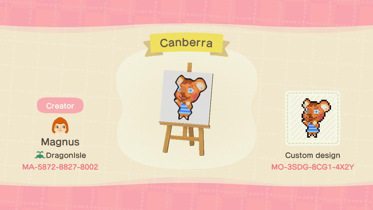 Canberra Signpost - Animal Crossing: New Horizons Custom Design