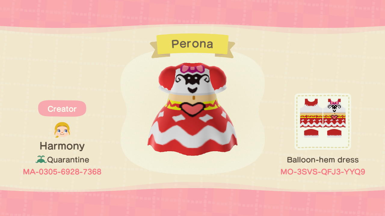 Perona-One Piece - Animal Crossing: New Horizons Custom Design