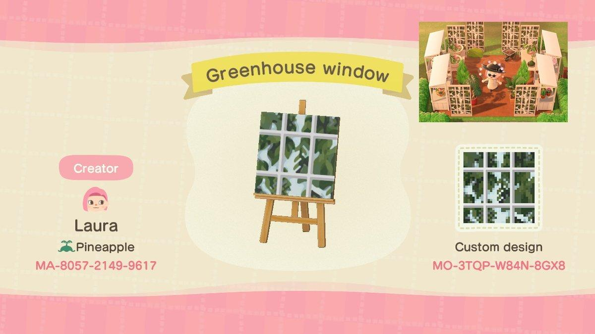 Greenhouse Windows - Animal Crossing: New Horizons Custom Design