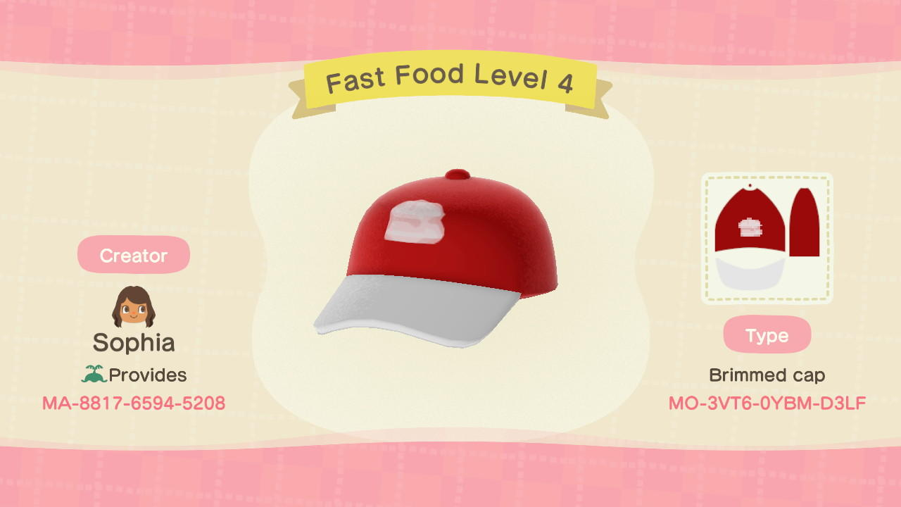 Fast Food Level 4 - Animal Crossing: New Horizons Custom Design