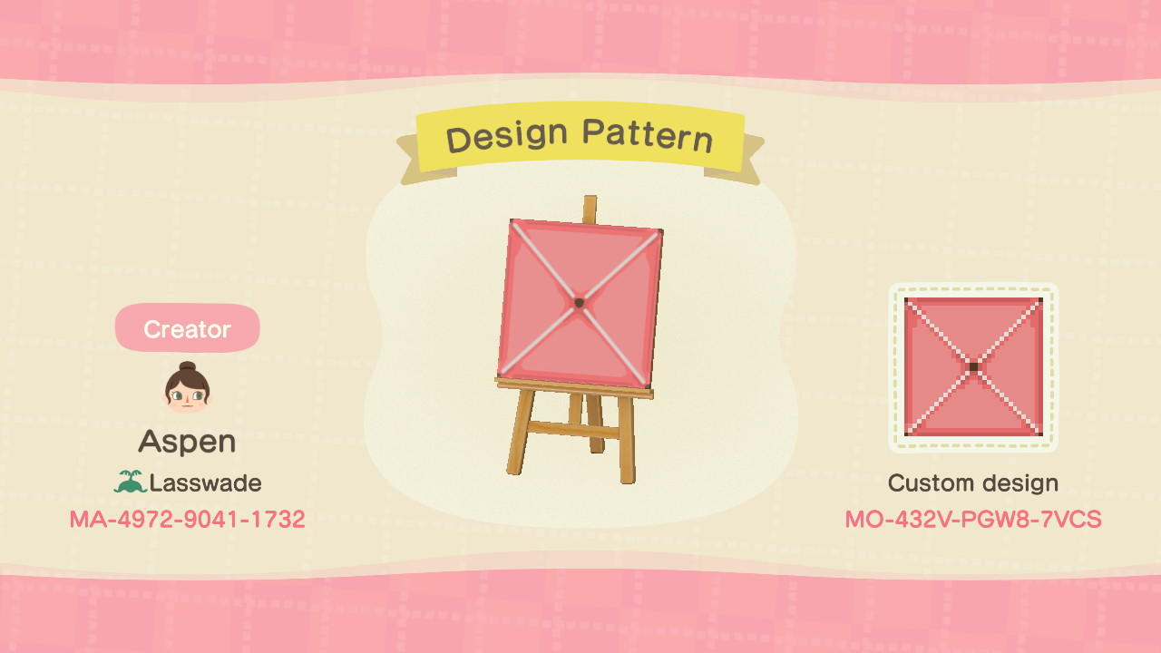 Quilted Bed Pattern - Animal Crossing: New Horizons Custom Design