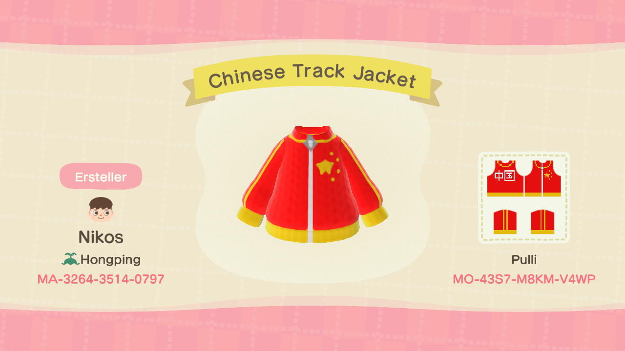 Chinese Track Jacket - Animal Crossing: New Horizons Custom Design