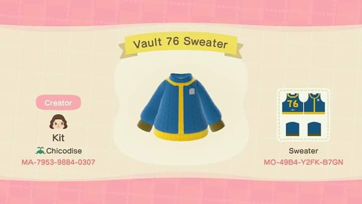 Fallout 76 Sweater - Animal Crossing: New Horizons Custom Design