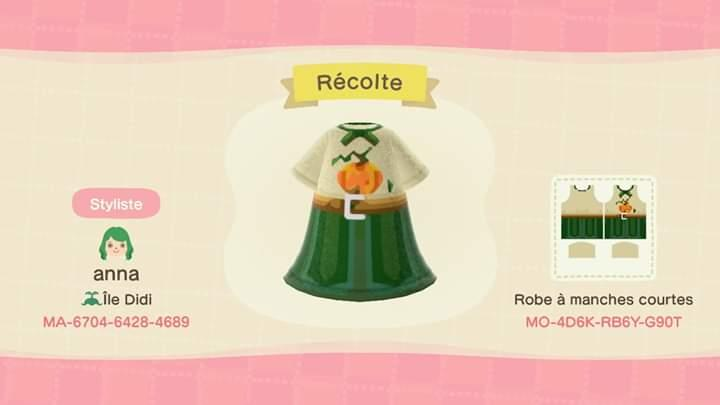 Récolte (Harvest) - Animal Crossing: New Horizons Custom Design