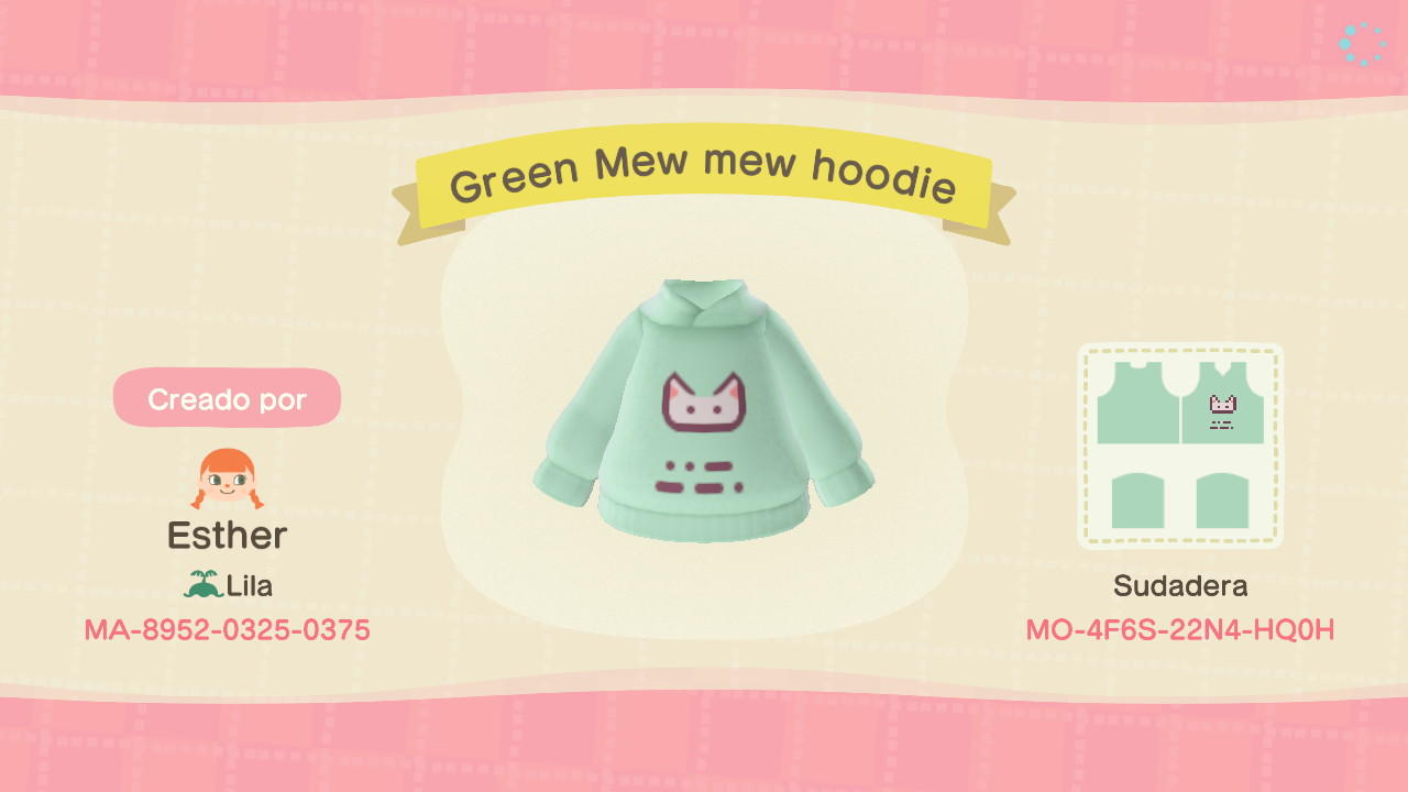 Green Mew Mew Hoodie - Animal Crossing: New Horizons Custom Design