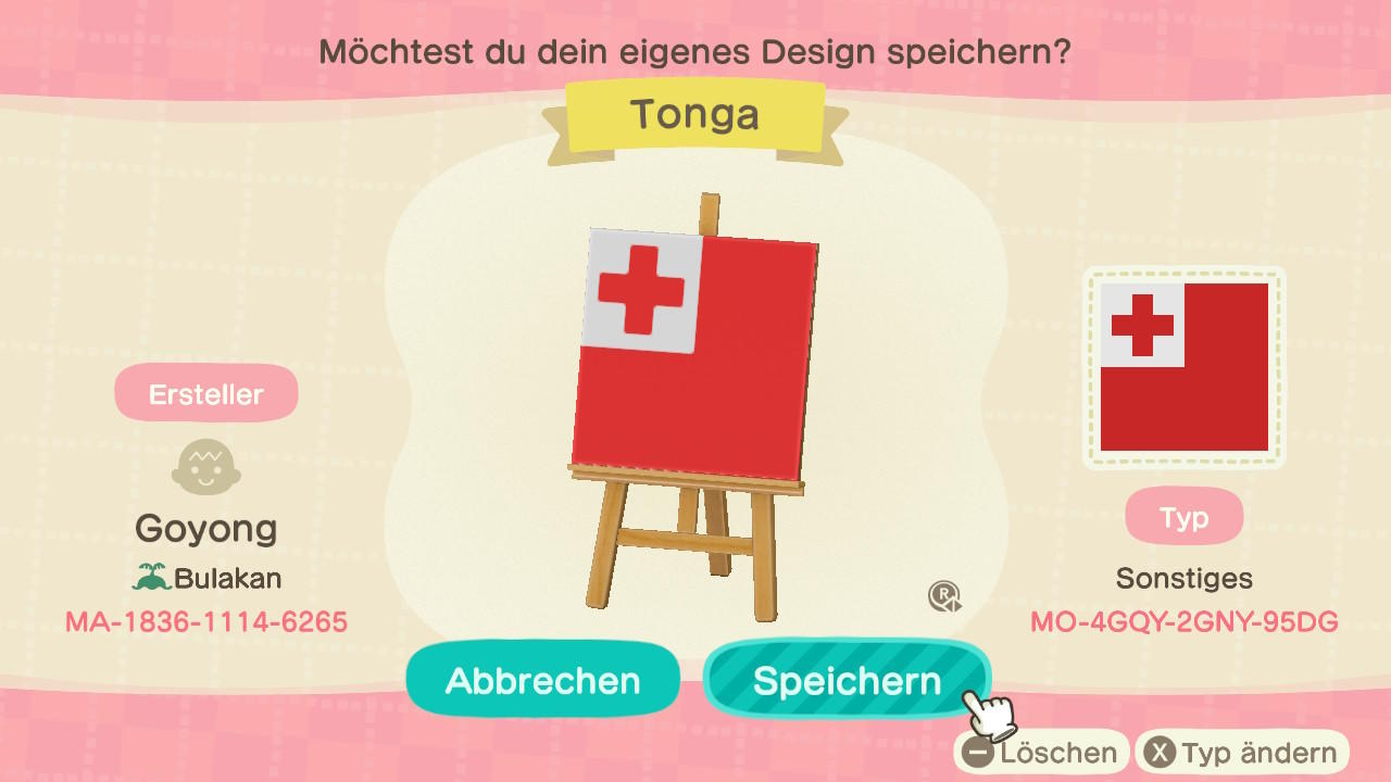 Tonga - Animal Crossing: New Horizons Custom Design