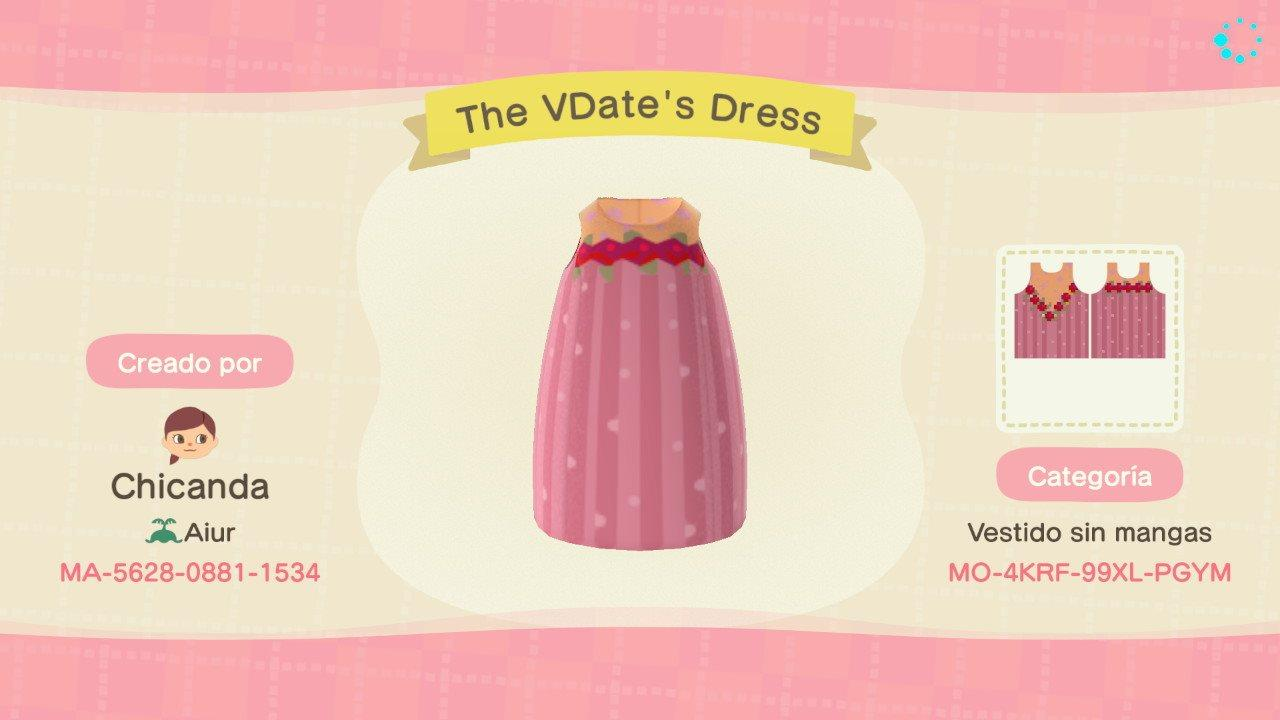 The VDate's Dress - Animal Crossing: New Horizons Custom Design