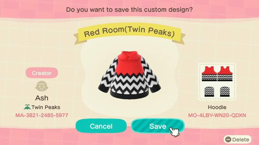 Twin Peaks Red Room - Animal Crossing: New Horizons Custom Design