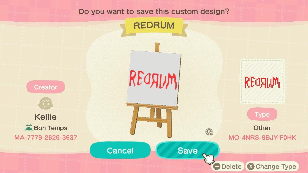 REDRUM    - Animal Crossing: New Horizons Custom Design