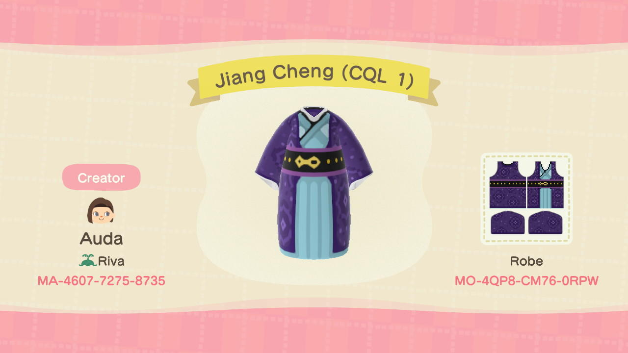 Jiang Cheng (CQL 1) - Animal Crossing: New Horizons Custom Design