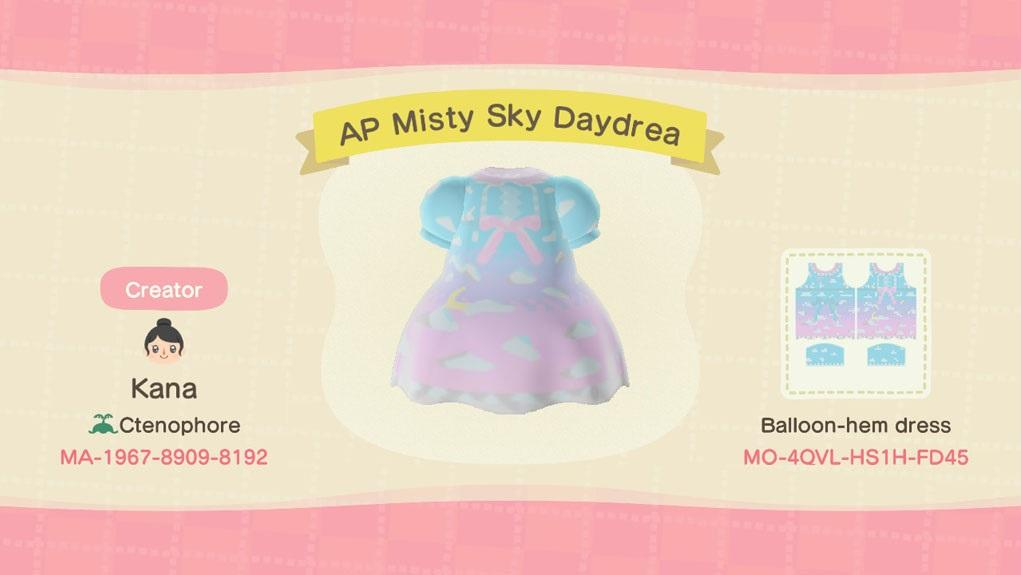 AP Misty Sky Daydrea - Animal Crossing: New Horizons Custom Design