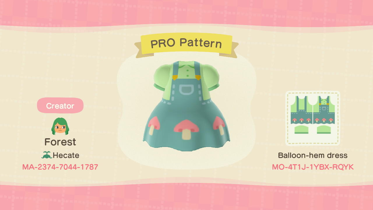 Mush Overalls  - Animal Crossing: New Horizons Custom Design