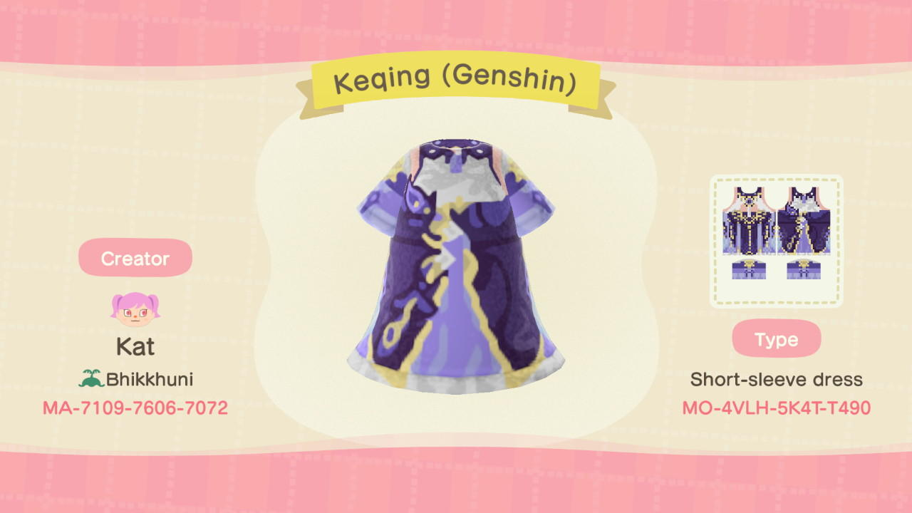 Keqing (Genshin) - Animal Crossing: New Horizons Custom Design