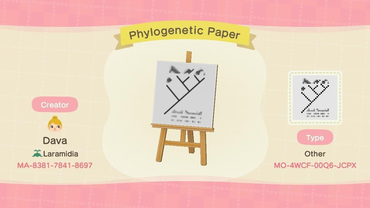 Phylogenetic Paper - Animal Crossing: New Horizons Custom Design