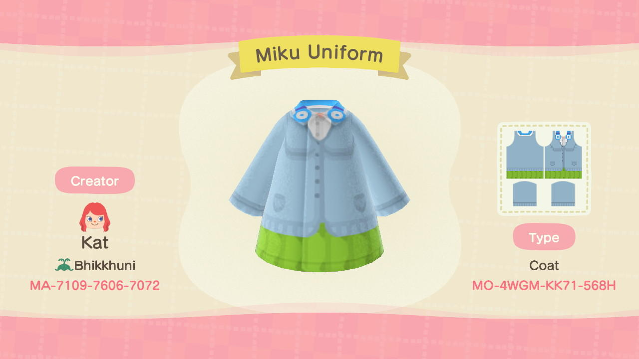 Miku Nakano - Animal Crossing: New Horizons Custom Design