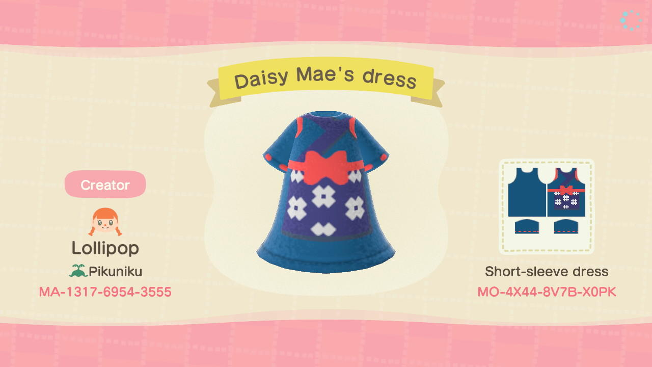 Daisy Mae's outfit - Animal Crossing: New Horizons Custom Design