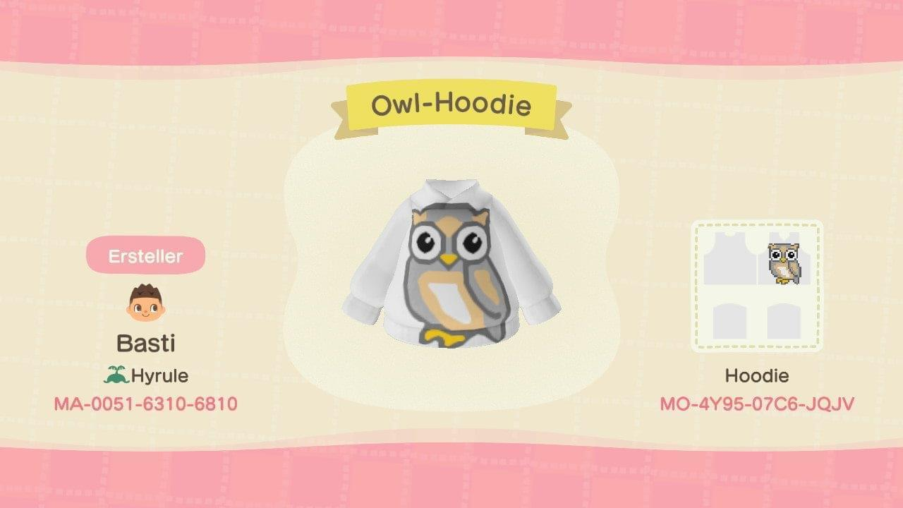 Owl Hoodie - Animal Crossing: New Horizons Custom Design