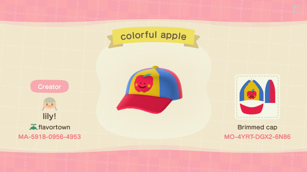 Colorful Apple - Animal Crossing: New Horizons Custom Design