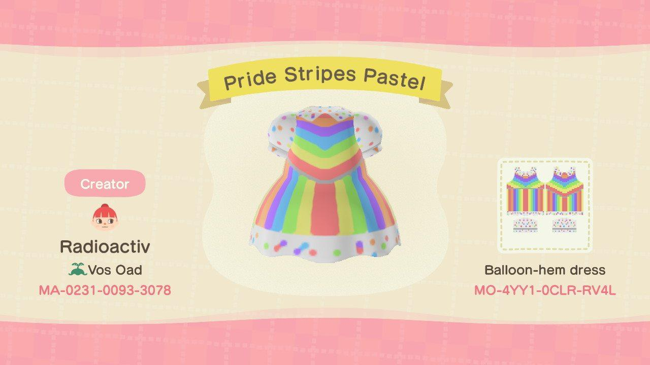 Pride Stripes Pastel - Animal Crossing: New Horizons Custom Design