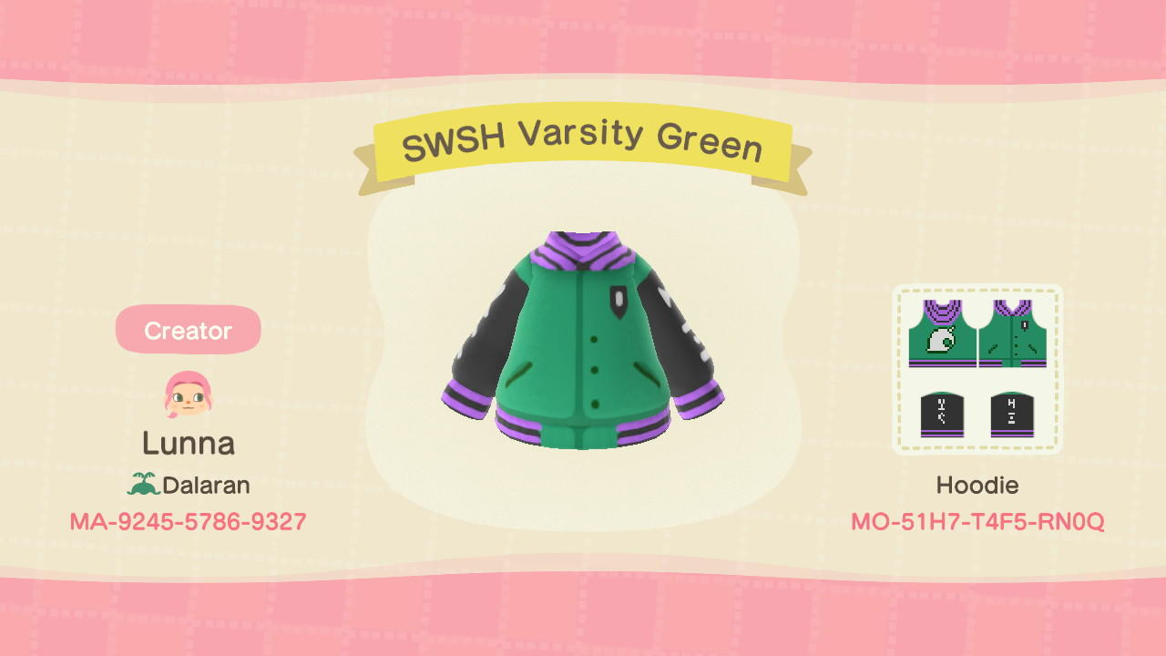 SwSh Varsity Jacket - Animal Crossing: New Horizons Custom Design