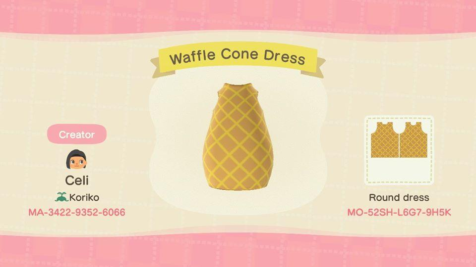 Waffle Cone Dress - Animal Crossing: New Horizons Custom Design