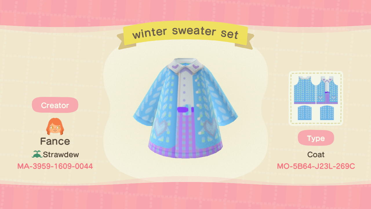 Winter sweater set - Animal Crossing: New Horizons Custom Design