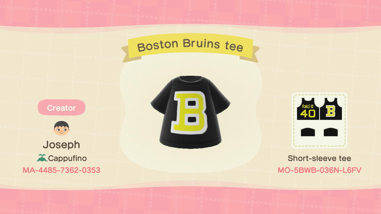 Bruins Tee - Animal Crossing: New Horizons Custom Design